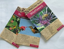 Seeds for local area to attract bees, butterflies & hummingbirds