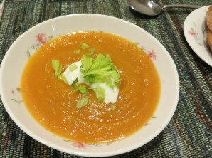 Cream of roasted pumpkin soup