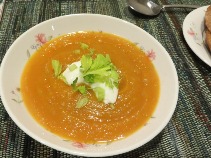 Cream of roasted pumpkin soup