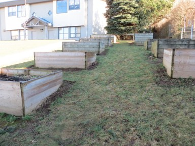 A local school solution to garden on a slope