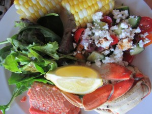 Crab & Sockeye salmon supper
