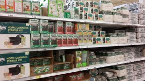 Canning supplies for local fruit and vegetables