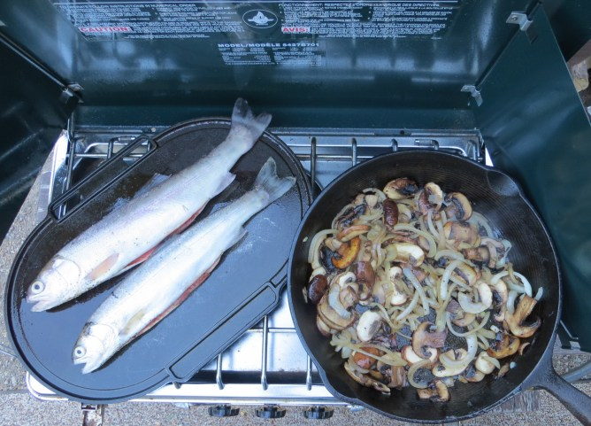 Brunch or lunch on the propane stove