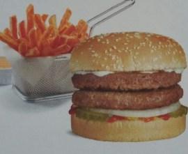 Double burger & fries