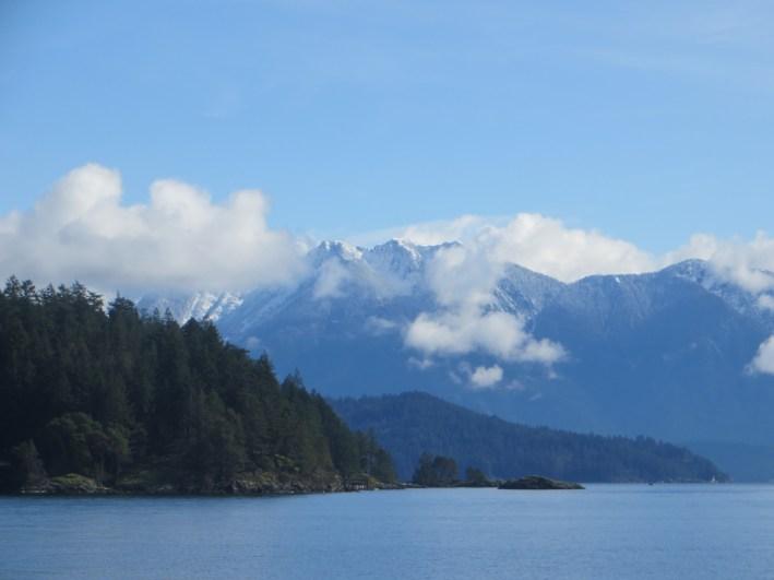Coastal Range mountains in winter