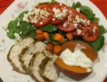 Breast chicken, sweet potato & salad