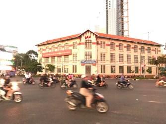 Bustling Saigon in midday