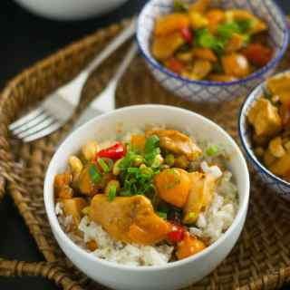 Easy Cashew Chicken with Jasmine Rice