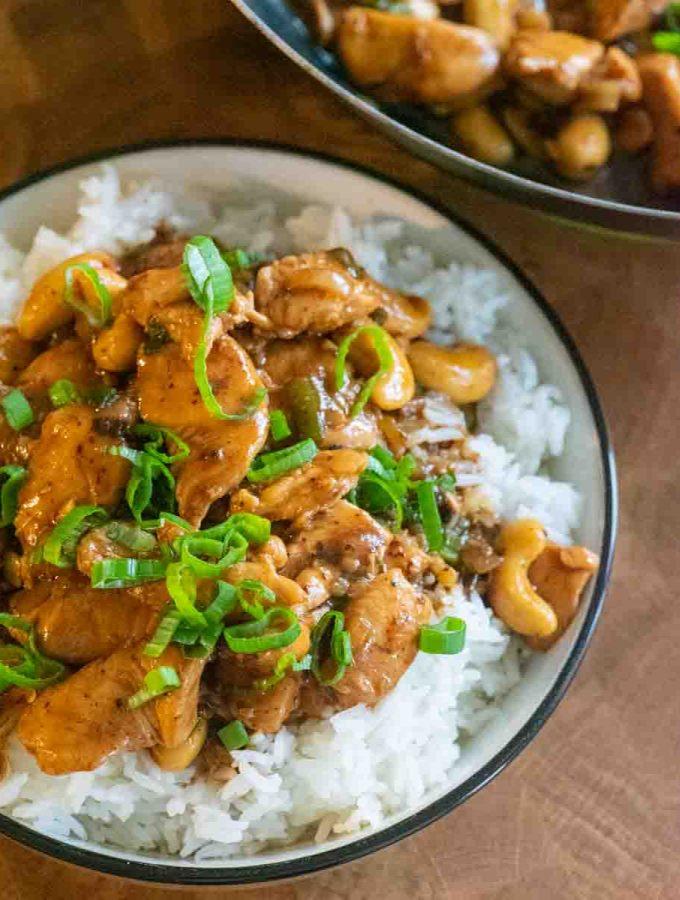 Cashew chicken with jasmine rice 3