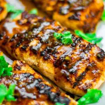 Tamarind Honey Glazed Salmon