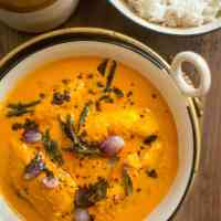 South Indian Fish Curry - An easy fish curry recipe with a special tempering