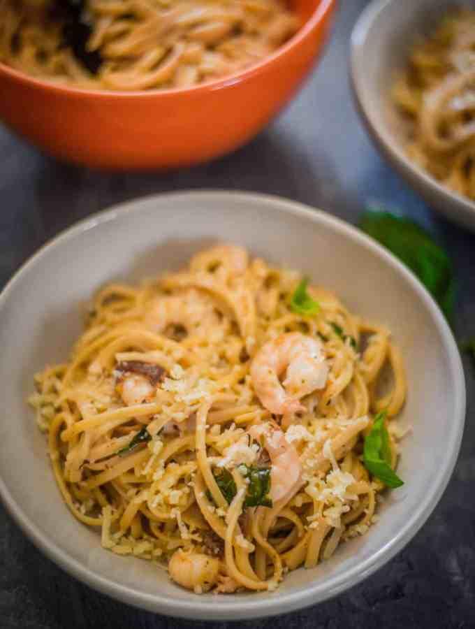 Instant Pot Shrimp Linguine