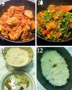 step by step instructions for making chicken biryani