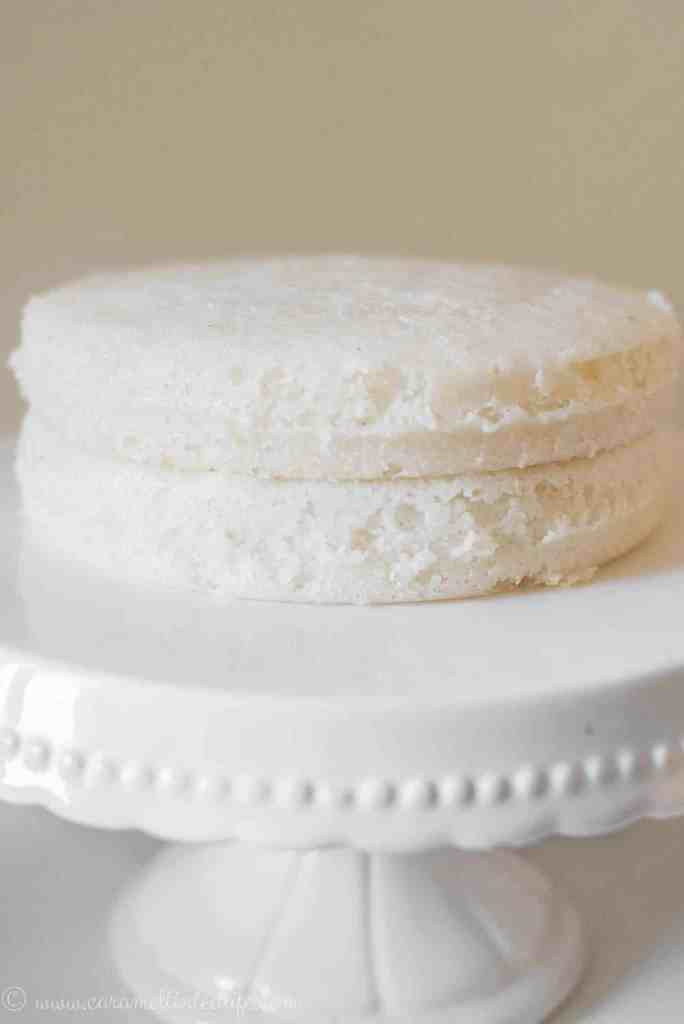 Vattayapams or rice cakes on a cake stand