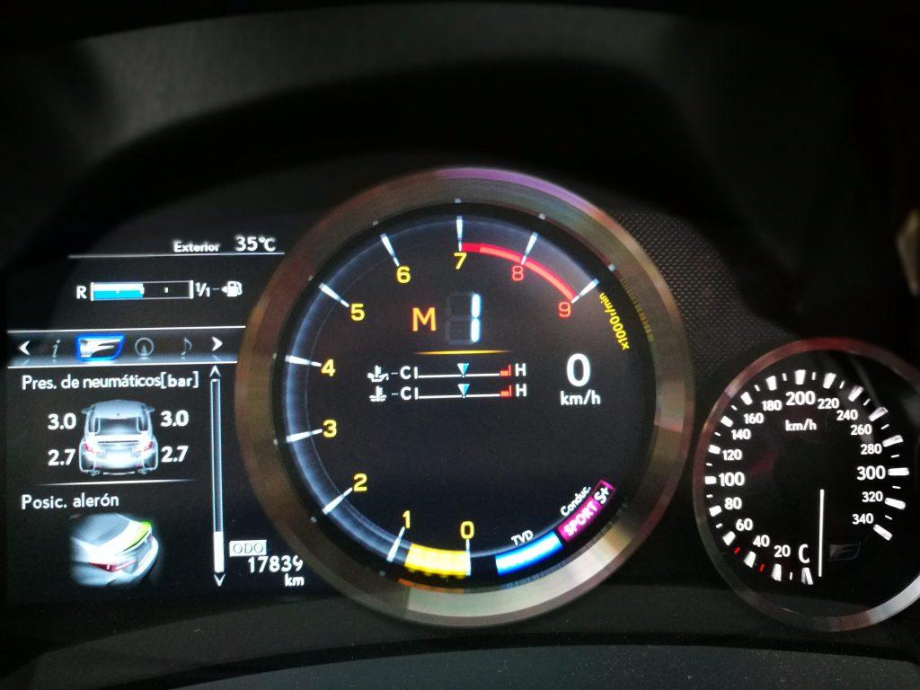 Temperatura Lexus RC F