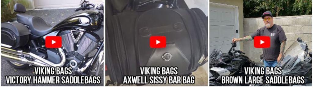 Viking Lamellar Slanted Leather Motorcycle Hard Saddlebags