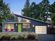 warna cat dinding luar rumah dengan perpaduan abu-hijau-putih