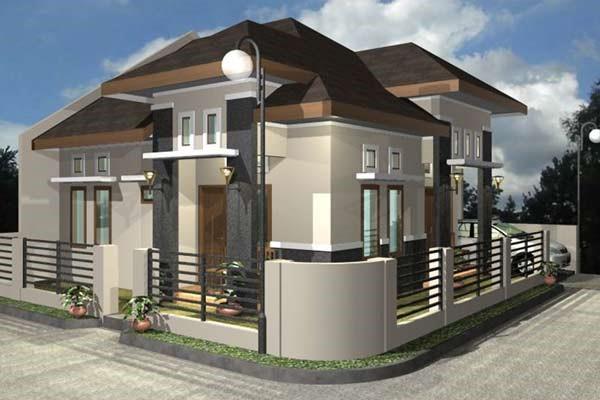 contoh Pagar rumah minimalis yang dibangun dengan konsep yang lebih rendah dari biasanya