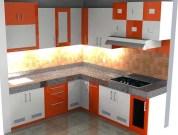 Model Kitchen Set Dengan Pilihan Kombinasi Warna Cerah