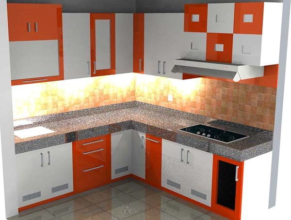 Model Kitchen Set Dengan Pilihan Kombinasi Warna Cerah