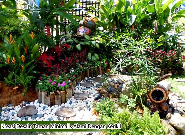 Kreasi Desain Taman Minimalis Alami Dengan Kerikil