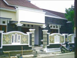 Contoh gambar desain pagar rumah minimalis dengan batu alam-10