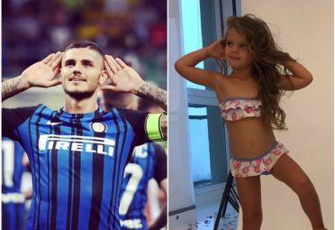 Mauro Icardi y Francesca, dos gotas de agua.