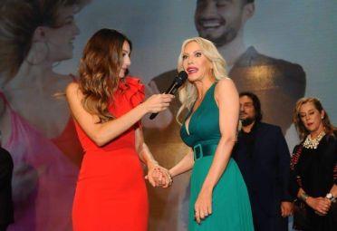 Pampita y Luciana Salazar, dos reinas en la inauguración de Net TV