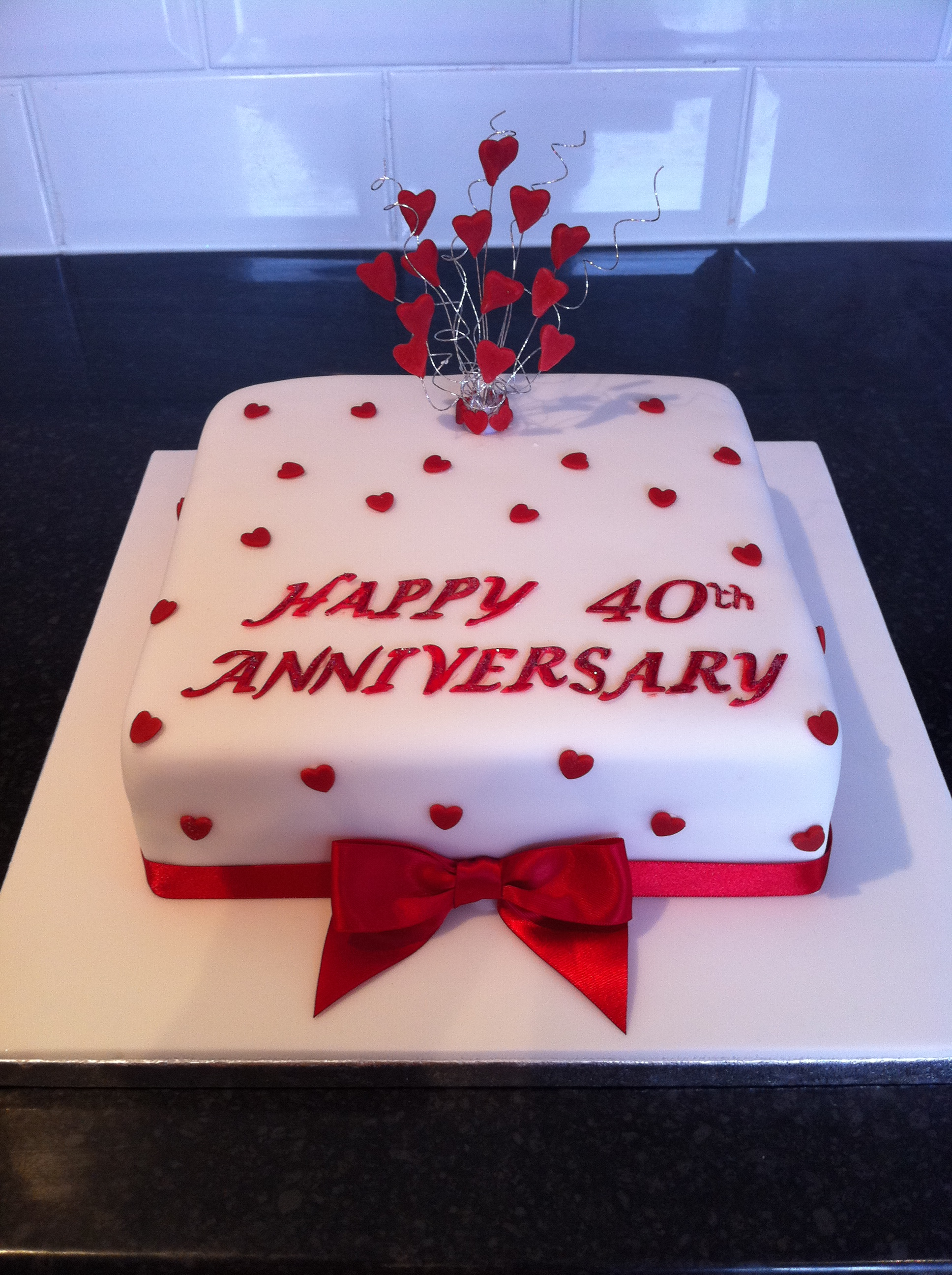 Ruby Anniversary Cake Cake Ideas And Designs