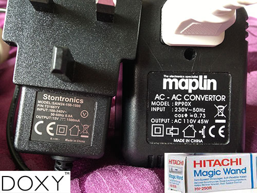 Power adaptor comparisons with Hitachi