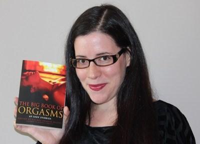 Rachel Kramer Bussel with Big Book of Orgasms erotic storybook