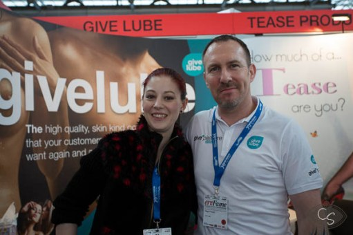 Cara Sutra and Nigel from Give Lube