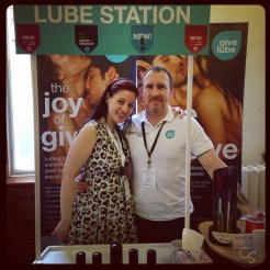 cara sutra and nigel from give lube at eroticon 2014