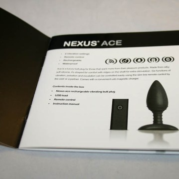 Nexus Ace Remote Controlled Butt Plug-CS-800-11