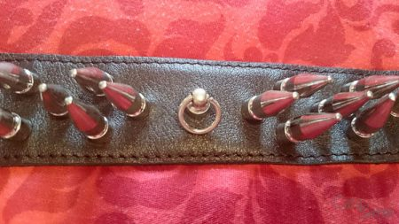 rimba spiked bondage collar cara sutra review-13