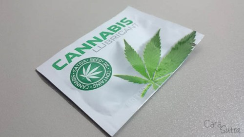 Cara Sutra review - Cobeco Cannabis Lubricant Sachet opening-1