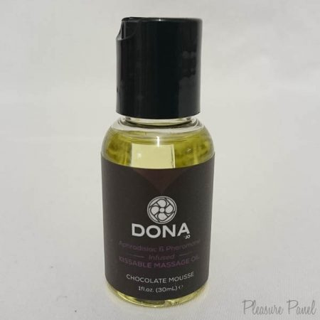 DONA by JO Kissable Massage Oil Chocolate Mousse Cara Sutra Pleasure Panel Review