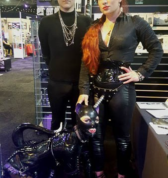 Master Dominic, Goddess Sophia in the ElectraStim Wave Strap-On she bought and TV Goth Natalie