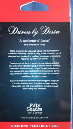 Fifty Shades of Grey Driven By Desire Silicone Butt Plug Review