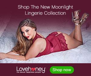 Lovehoney Plus Size Moonlight Black Plunge Basque Set