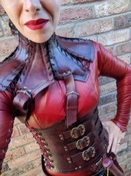 Mistress Cara Red Leather Mord-Sith Cosplay Outfit-39