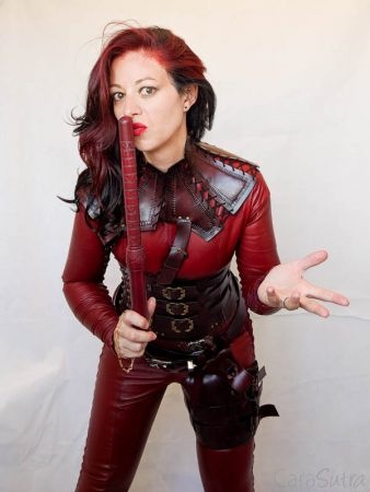 My Mistress Cara Red Leather Mord-Sith Cosplay Outfit