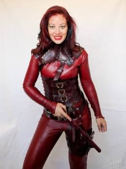 Mistress Cara Red Leather Mord-Sith Cosplay Outfit-95