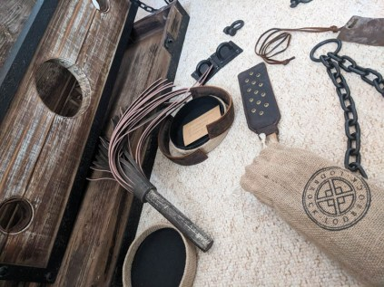 Lodbrock Handmade Wooden BDSM Pillory Set Review-6