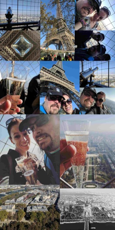 Paris Sunday Eiffel Tower Collage