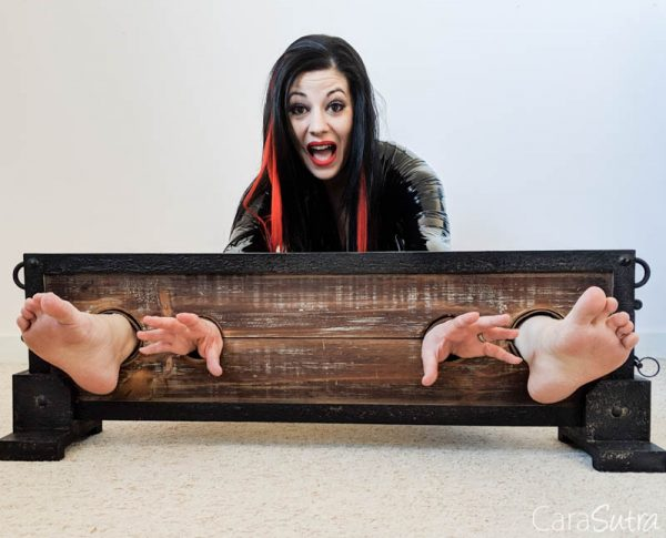 LodbrockFootTickling Pillory Review| Bondage Gear With Standing Supports