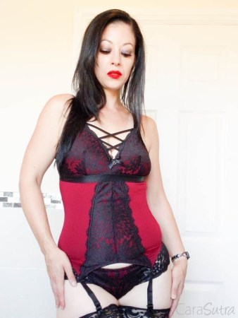 Lovehoney Night Lily Wine and Black Lace Basque Set Review