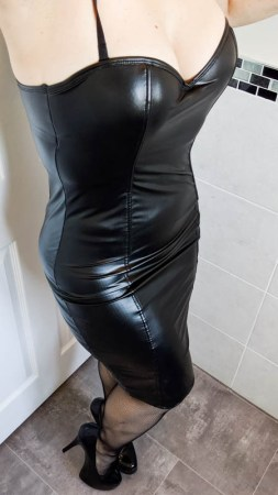 Lovehoney Fierce Leather-Look Bodycon Dress Review
