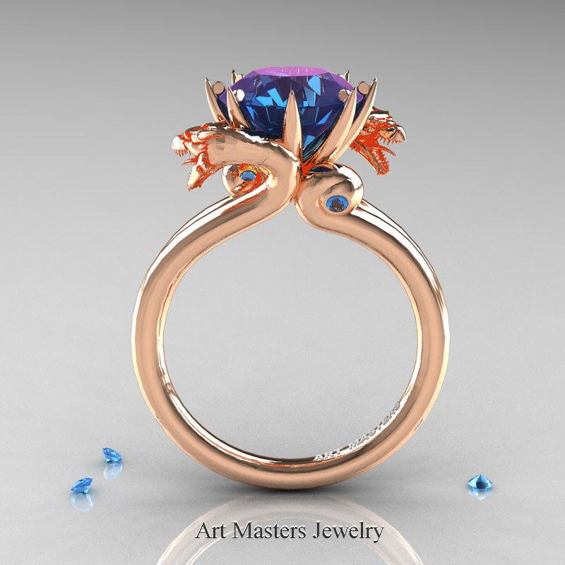 Art Masters 14K Rose Gold 30 Ct Chrysoberyl Alexandrite