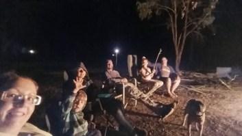 Last night camping